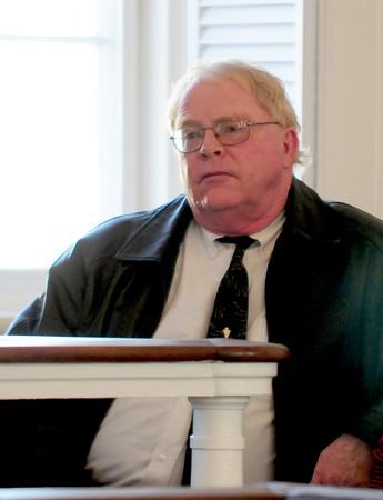 JIM VAIKNORAS/Staff photo Rowley Water Commisioner Tim Toomey at Superior Court in Newburyport.