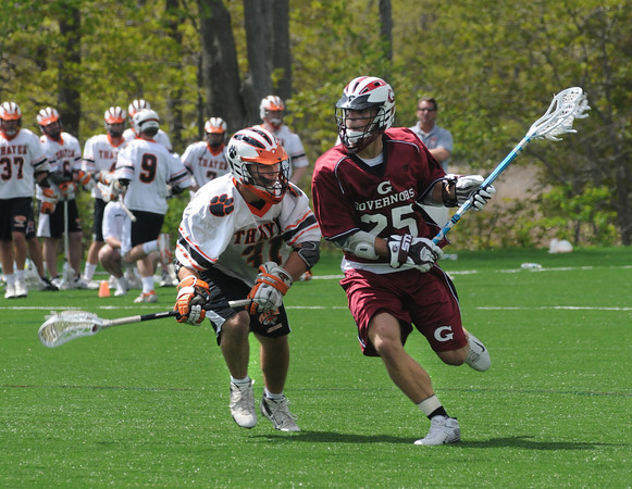 Newbury:Governor's Will Bryson makes a move vs Thayer at the Governor's Academy Saturday.<br /> Photo by Jim Vaiknoras/Newburyport Daily News Sunday, May 18, 2008
