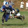 Georgetown: Georgetown's Brandon Wade breaks a tackle  vs Lynnfield Saturday.<br /> Photo by Jim Vaiknoras/Newburyport Daily News. Saturday, September 8, 2007