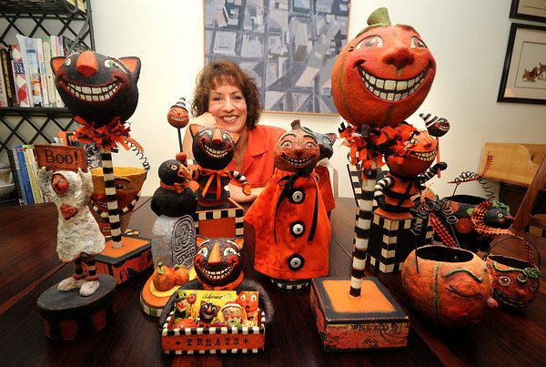 Newburyport: Alycia Matthews with some of her creations that she will be selling at this years Harvest Festival in Newburyport. Jim Vaiknoras/Staff photo