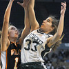 Worchester: Pentucket's Abby Stephenson battles for a rebound during the teams loss in the  State chamionship game against Lee Saturday at the DCU Center in Worchester. Jim Vaiknoras/Staff photo<br /> &#x08;, Worchester: Pentucket's Abby Stephenson battles for a rebound during the teams loss in the  State chamionship game against Lee Saturday at the DCU Center in Worchester. Jim Vaiknoras/Staff photo<br /> &#x08;