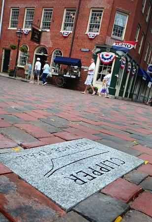 Newburyport: Granite markers around Newburyport are part of the city's Clipper Heritage Trail. Bryan Eaton/Staff Photo