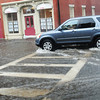 Newburyport: Yesterday's huge downpours flooded Market Square in downtown Newburyport with tornado warnings issued for parts of northeastern Massachusetts. Bryan Eaton/Staff Photo