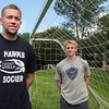 Newburyport: Newburyport Varsity Soccer summer league coach AJ MacDougall with player Adam Trexler. Bryan Eaton/Staff Photo