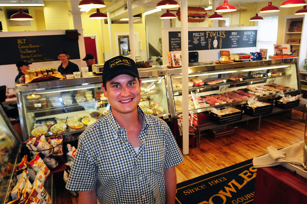 Newburyport: Andrew Elliot has taken over the landmark Fowle's Market on High Street in Newburyport, famous for its sausages, meats and other prepared food. Bryan Eaton/Staff Photo
