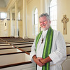 Newburyport: Oliver Jones is a Lutheran pastor serving as assistant rector at an Episcopalian church, St. Paul's in Newburyport. Bryan Eaton/Staff Photo