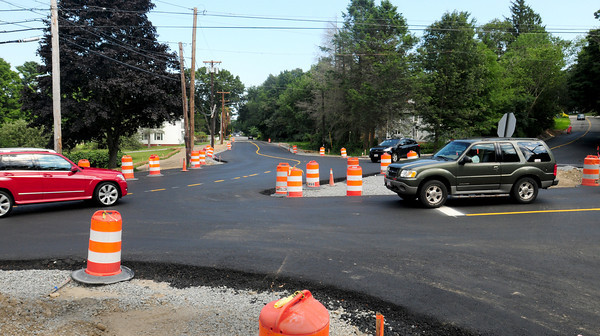 Newburyport: Regular traffic pattern is still being used at the nearly completed roundabout at the end of Merrimac Street in Newburyport. Bryan Eaton/Staff Photo