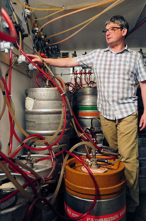 Newburyport: David Buckley of the Port Tavern has installed a special system for cleaning beer lines that keeps owners from wasting beer to clean them. Bryan Eaton/Staff Photo