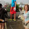 Newbury: Lynne Petty helped organize the plantings at Plum Island Center.  Bryan Eaton/Staff Photo