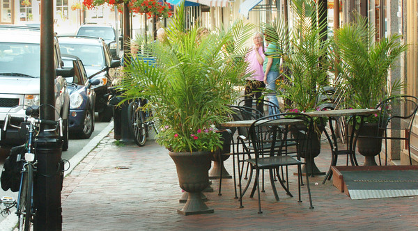 Newburyport: The city has received several complaints about the amount of space the outdoor dining of Loretta is taking. Bryan Eaton/Staff Photo
