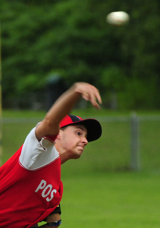 Rowley: Pat Slack pitches against Lynn for Legion Post 150. Bryan Eaton/Staff Photo