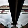 newburyport: Low grey clouds are reflected in the window at 17 State Street in Newburyport . Jim Vaiknoras/staff photo