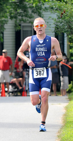 Amesbury:  Dam Triathlon winner Kyle Burnell of South Berwick Me. Saturday morning in Amesbury. Jim Vaiknoras/staff photo