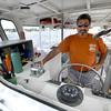 Newburyport:Biology teacher Paul Aziz pilots Habor Tours on the Yankee Clipper in Newburyport. Jim Vaiknoras/staff photo