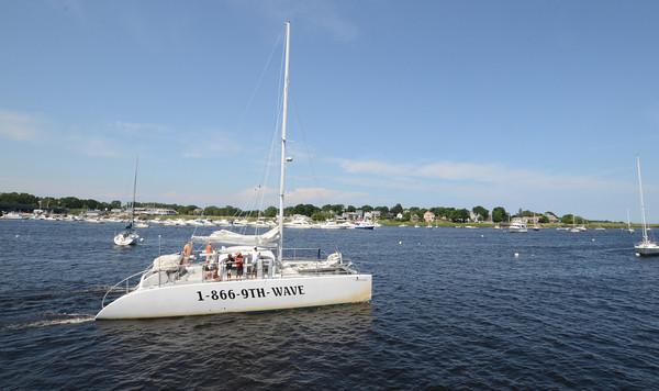newburyport: The Ninth Wave heads out along the Newburyport Waterfront. Jim Vaiknoras/staff photo