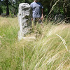 Newbury: Doug Morris stand in the unmowed grass in First Parish cemetery<br /> in Newbury. Jim Vaiknoras/staff photo