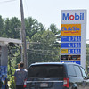 newburyport: A motorist fills up his gas tank on Story Ave n Newburyport. Jim Vaiknoras/staff photo