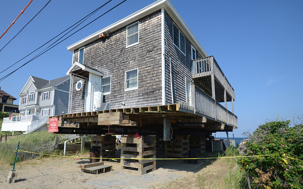 Plum Island: Home on Annapolis Way , which is being moved across the street further a way from the ocean, Jim Vaiknoras/staff photo