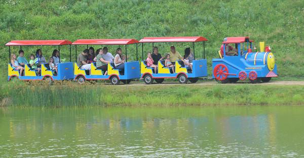 Newburyport:The Kids Train makes it way around the Frog Pond at Old Fashioned Sunday.Jim Vaiknoras/staff photo