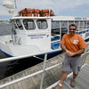 Newburyport:Biology teacher Paul Aziz pilots Habor Tours on the Yankee Clipper in Newburyport. Jim Vaiknoras/staff photo