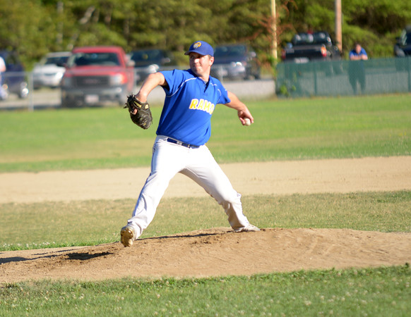 JIM VAIKNORAS/Staff photo Rowley pitcher Joe White throws against Manchester during their game at Eiras Field in Rowley.
