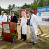BRYAN EATON/Staff photo. Dean Carucci, CEO of Portsmouth Regional Hospital, speaks at a press conference for their planned Emergency Room that's going to be built in Seabrook.