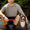 BRYAN EATON/Staff photo. Michael Land and his pal Atticus.