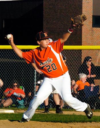 BRYAN EATON/Staff photo. Beverly pitcher #20.
