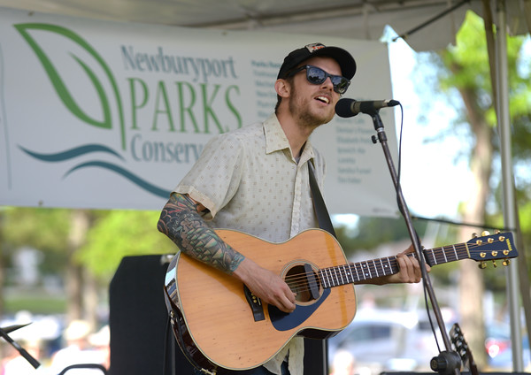 JIM VAIKNORAS/staff photo  Tristan Omand performs at the Rhythm & Roots Festival on the Newburyport Waterfront, sponsored by the Newburyport Parks Conservancy Saturday afternoon.