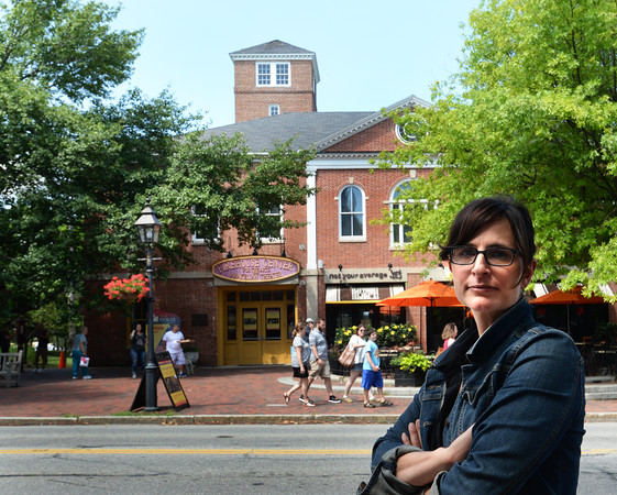 BRYAN EATON/Staff photo. Beth Falconer, executive director of Newburyport's Firehouse Center for the Performing Arts. The group is raising money for repairs needed for the structure.