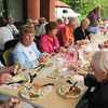 Amesbury: The Amesbury Days Annual Senior Citizens Cookout was held for the first time at the new Senior Center at the Costello Transportation Center with a menu of hot dogs, hamburgers, potato salad and cole slaw. Bryan Eaton/Staff Photo