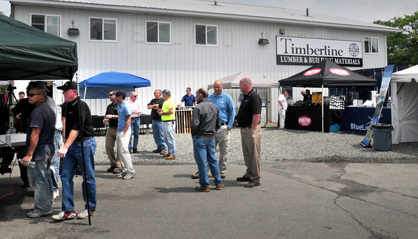 Newburyport: Timberline, a new lumber and building materials business at 23 Low Street in Newburyport recently held an open house for local builders with several vendors in attendance as well. Bryan Eaton/Staff Photo