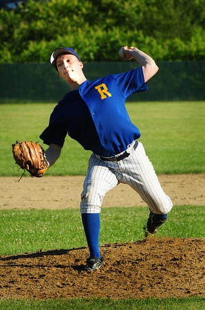 Rowley: Rowley Rams pitcher Nick Ligouri. Bryan Eaton/Staff Photo