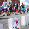 Amesbury: Students at Amesbury Elementary School recently held a Mini Relay for Life at the school. The event is to help raise money for the American Cancer Society. Bryan Eaton/Staff Photo