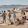 Salisbury: Many people were at Salisbury Beach yesterday as temperatures hit the low 90's with more people expected today as school is out for the weekend. Bryan Eaton/Staff Photo