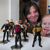 Newburyport: Kara Logan, likes to play with Star Trek figures as much as her mom, Denise, likes to collect them. Bryan Eaton/Staff Photo