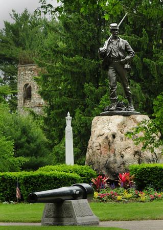 Newburyport: The Civil War monument in Atkinson Common in Newburyport. Bryan Eaton/Staff Photo