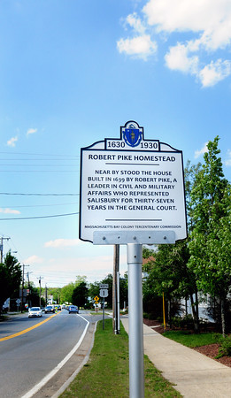Salisbury: One of several historical markers around Salisbury, here on Route One. Bryan Eaton/Staff Photo