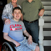Newburyport: Newburyport High School graduating senior Christian Farren has earned a $10,000 scholarship from the Arakelian Fund to go to Clark University in fall. Farren is a quadriplegic, so his parents Pam and Sean are selling their home to move to Worcester with him. Bryan Eaton/Staff Photo