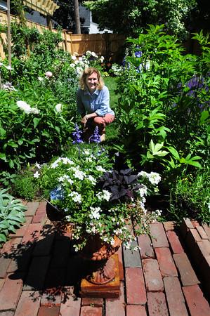 """Newburyport: Elizabeth Petty's Purchase Street garden is on """"City Gardens"""" tour this weekend. Bryan Eaton/Staff Photo"""