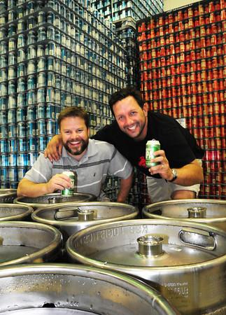 Newburyport: Newburyport Brewing Co. owners Bill Fisher, left, and Chris Webb. Bryan Eaton/Staff Photo