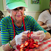 Amesbury: Nancy Knapp of Amesbury was one of the volunteers at the Main Street Congregational Church getting ready for their Strawberry Festival on Saturday, part of Amesbury Days. Bryan Eaton/Staff Photo