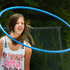 BRYAN EATON/ Staff Photo. Haylee Clogston, 12, participates in Salisbury Elementary Schoo's Field Day on Tuesday. She was participating in one heat of the hula-hoop competition.