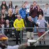 BRYAN EATON/ Staff Photo. Newburyport fans cheer the second goal of the game by their team against Pentucket.