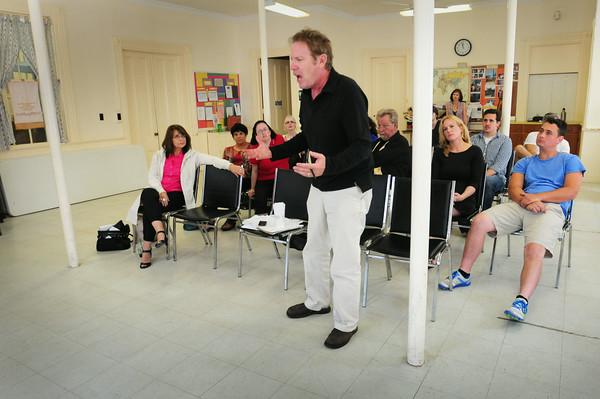 BRYAN EATON/ Staff Photo. Steve Blackwood leads the new acting master class's showcase.