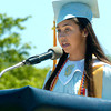 BRYAN EATON/ Staff Photo. Triton valedictorian Nicole Indingaro speaks about the future.
