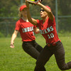 BRYAN EATON/ Staff Photo. Amesbury's Alexis Boswell makes the catch from a Weston popup.