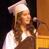 BRYAN EATON/ Staff Photo. Salutatorian Mackenzi Snyder gives her remarks.