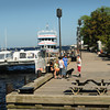BRYAN EATON/ Staff Photo. The Newburyport Boardwalk along the Merrimack River is an embarkation spot for several commercial craft that take the public onto the river and the Atlantic Ocean for various cruises.