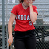 JIM VAIKNORAS/Staff photo Amesbury's Rachael Cyr reacts after striking out against St Mary's in the North Final at Martin Field in Lowell Sunday. The Indians lost the game 8-4.